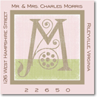 Name Doodles - Square Address Labels/Stickers (Deco Pink)